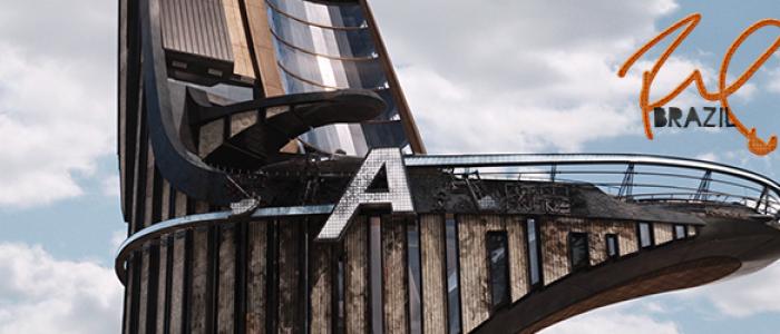 "Robert ganha o ""A"" da Avengers Tower de presente"