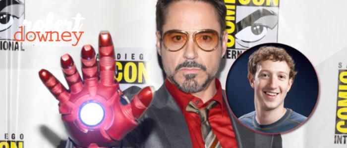 Robert Downey Jr oferece sua voz para ser o JARVIS de Mark Zuckerberg