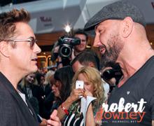 Dave Bautista confirma cenas com Robert Downey Jr em Vingadores: Guerra Infinita