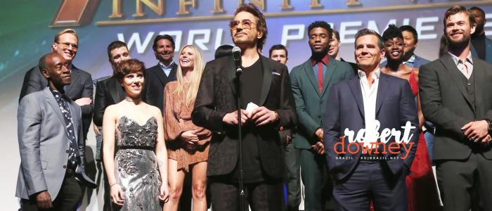 Robert Downey Jr. faz discurso emocionante na Premiere Mundial de Vingadores: Guerra Infinita